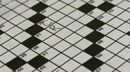 Crossword Timelapse Stock Footage