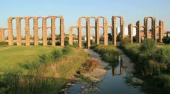 Spain Merida Aqueduct Stock Footage
