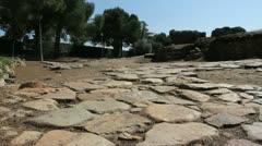 Spain Merida Roman road Stock Footage