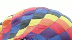 Top of hot air balloon being filled Stock Footage