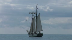 Schooner part 1 Stock Footage