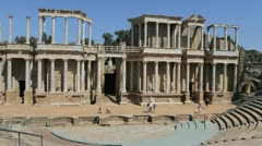 Spain Merida Roman theater 7 Stock Footage