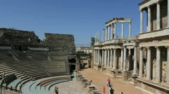 Spain Merida Roman theater 3 Stock Footage