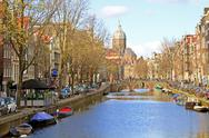 Stock Photo of amsterdam in the netherlands