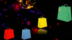 Sold and fireworks Stock Footage