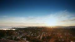 HD Gonzales Hill, Victoria BC, Timelapse Sunset Stock Footage