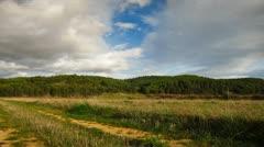 Clouds Landscape Time lapse  Stock Footage