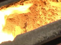 Wood granules boiler Stock Footage
