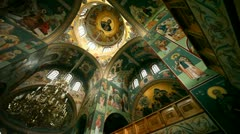 Grecian Church from inside Stock Footage