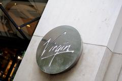 virgin records sign and logo in paris - stock photo