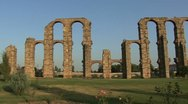 Stock Video Footage of Merida Aqueduct of the Miracles view