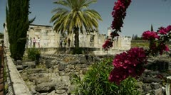 Capernaum synagogue 3 Stock Footage