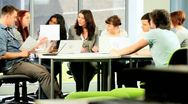Female tutor e-learning group of university classmates   Stock Footage