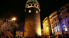 Galata Towers Time Lapse 2 HD 1080p - stock footage