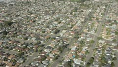 Aerial view over suburban Los Angeles Stock Footage