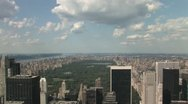 Stock Video Footage of Manhattan from the Rockefeller Center in New York City