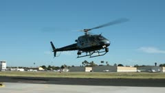 Helicopter landing (hd)c - stock footage