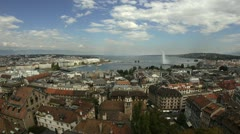Geneva Switzerland Panoramic View | Geneva Skyline Stock Footage