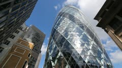 30 St Mary Axe and offices. Stock Footage