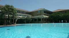 Swimming pool at the hotel in Sri Lanka Stock Footage