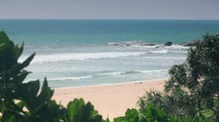 Coast of the Indian Ocean - stock footage