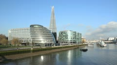 Offices on the Thames. Stock Footage