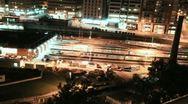 Subway Train Yard Night Time-lapse Stock Footage