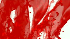 Splash red paint fluid,liquid & ink,blood & plasma. Stock Footage