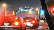 Santa Monica Pier Timelapse Stock Footage