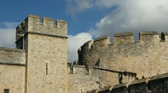 Tower of London. Detail. Timelapse. Stock Footage