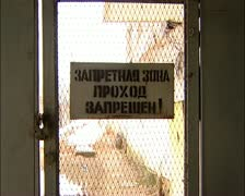 The territory of the prison. (Russian prison) - stock footage