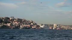 Bosphorus with sea traffic 3 HD 1080p Stock Footage