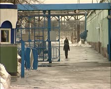 The territory of the prison. (Russian prison) Stock Footage
