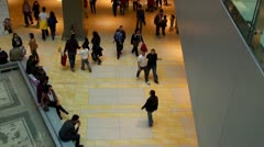 People walking at shopping center - stock footage
