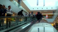 Shopping center escalator Stock Footage