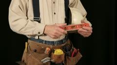 Man wearing tool belt 10-1 Stock Footage