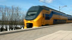 Fast Train in Holland - stock footage