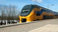 Stock Video Footage of Fast Train in Holland