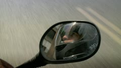 Driving on a Motorcycle 1 - stock footage