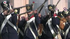 Fighting french foot gunner 03 Stock Footage