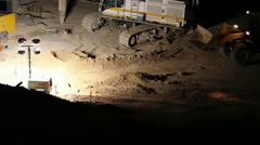 Stock Video Footage of HD 30p Mega Construction in the night - night diggers - - a series - 10