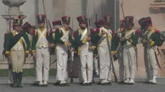 Fighting french infantry 02 Stock Footage