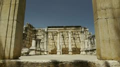 Capernaum synagogue 6 Stock Footage