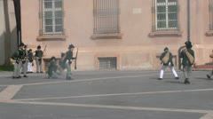 Fighting french soldier 02 Stock Footage