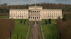 Belfast Stormont Parliament buildings wide shot Stock Footage