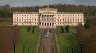 Stock Video Footage of Belfast Stormont Parliament buildings wide shot