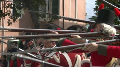 Fighting scottish soldier 01 Stock Footage