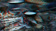 Stereoscopic 3D: cooking pancakes on a fire 1 Stock Footage