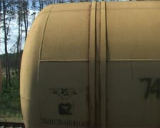 Crimea. Tank ride. The view from the train window Stock Footage