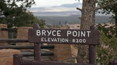 Bryce Canyon point elevation lookout P HD 9780 Stock Footage